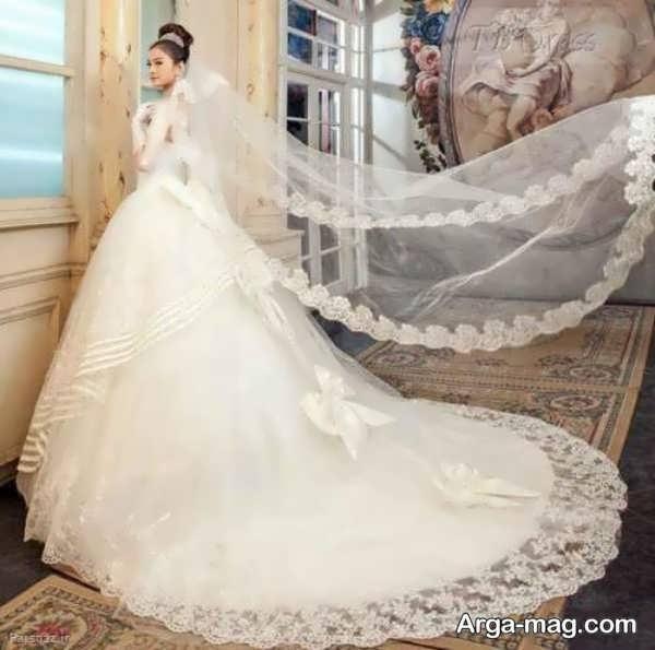 لباس عروس آستین دار ایده آل