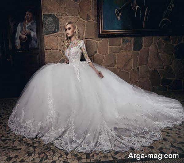 لباس عروس آستین دار خواستنی