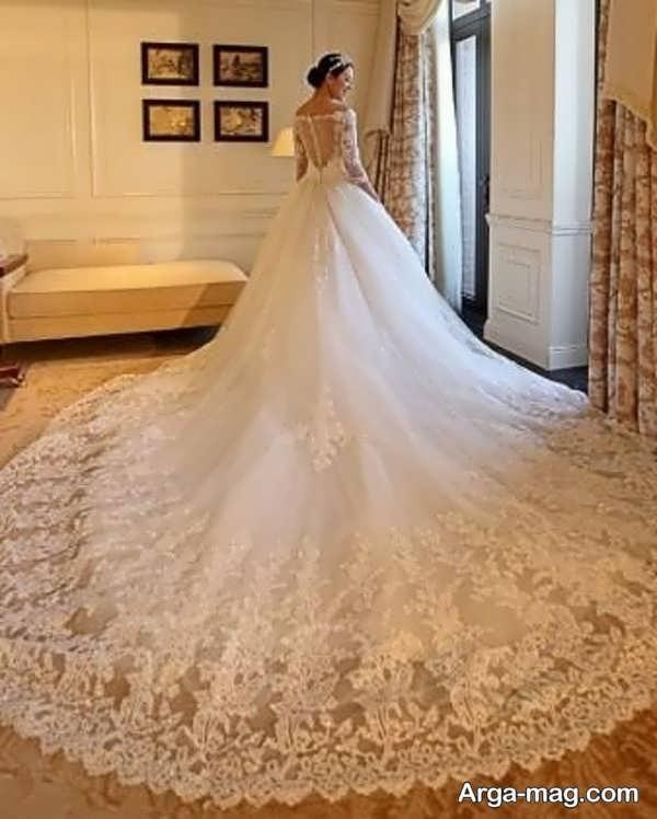 لباس عروس آستین دار بی نظیر