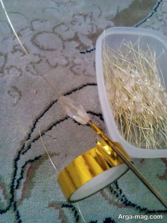 روش ساخ گل خوشه ای کریستالی