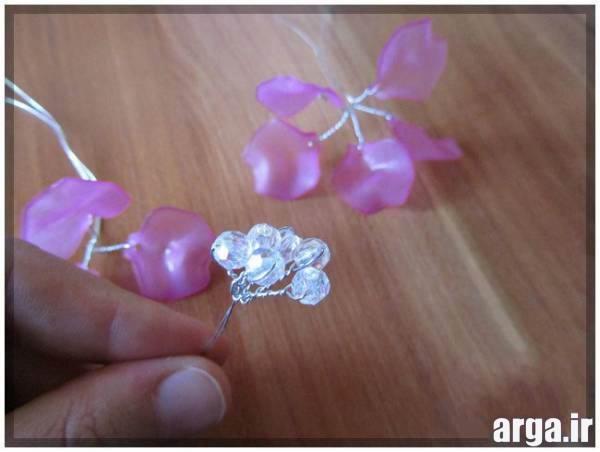 ساخت گل کریستالی