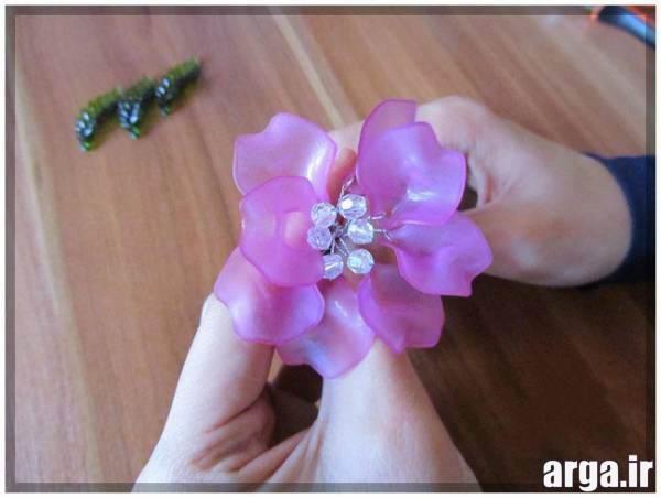 آموزش گلسازی با مـهره های کریستال آموزش گلهای کریستالی بـه صورت مرحله بـه مرحله و   تصویری mimplus.ir