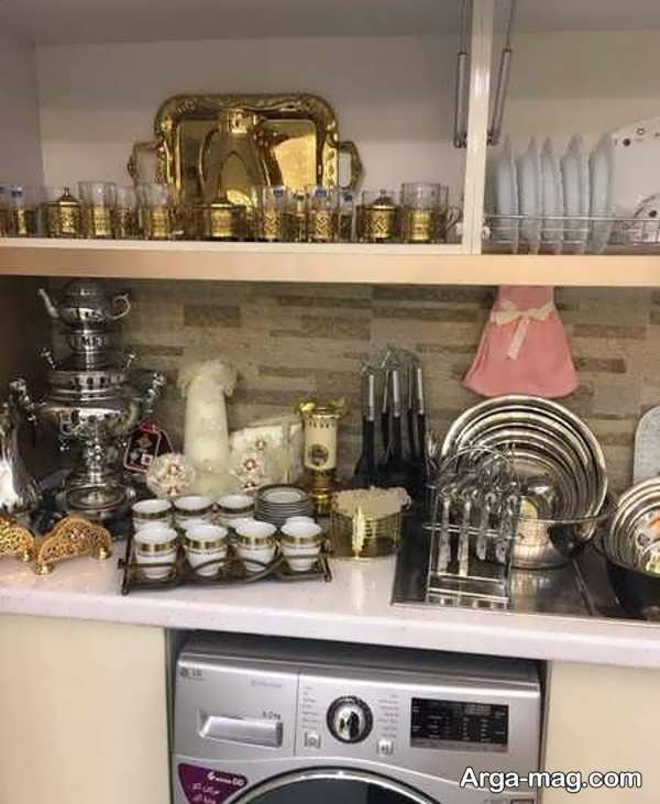 چیدمان آشپزخانه عروس با طراحی زیبا