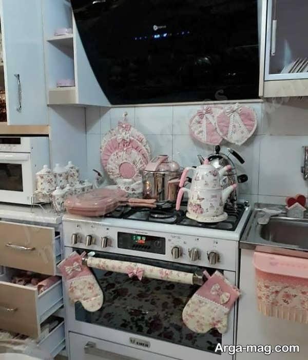 چیدمان آشپزخانه عروس با طراحی متفاوت