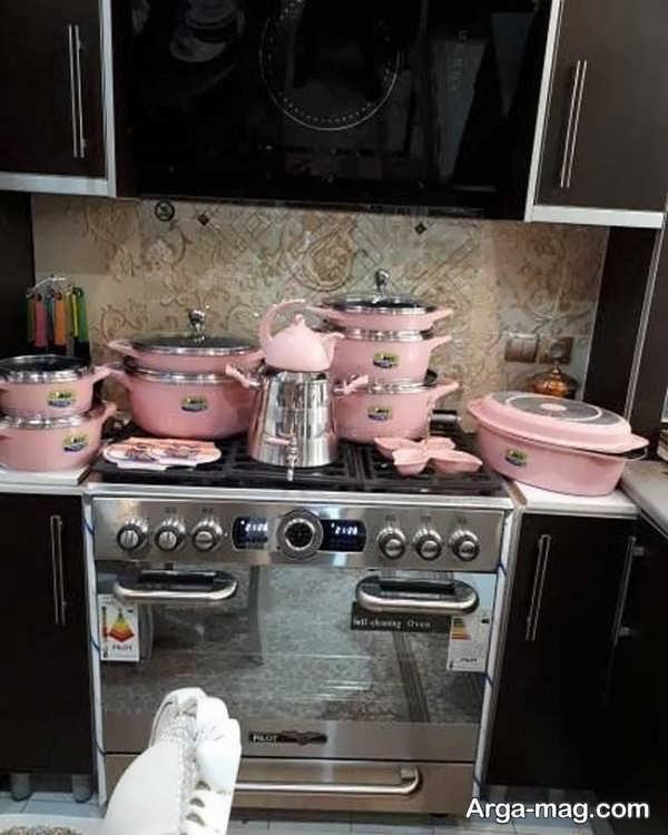 چیدمان آشپزخانه عروس با طراحی دمنحصر به فرد