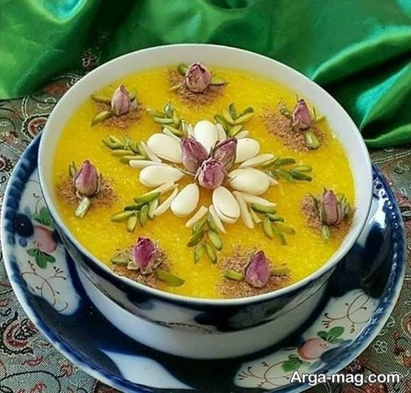 دیزاین بی نظیر شله زرد با گل محمدی