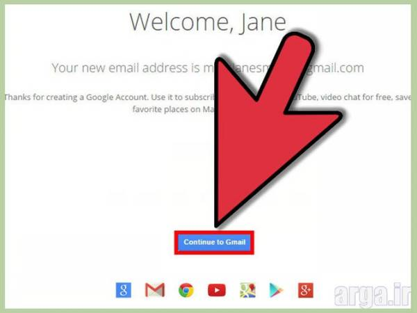 ساخت ایمیل گوگل مرحله هفتم