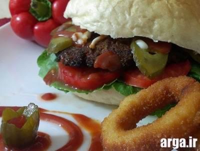 همبرگر خانگی ایده آل
