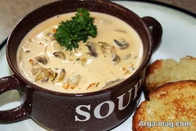 آموزش تهیه سوپ قارچ