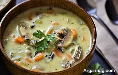 روش تهیه سوپ قارچ