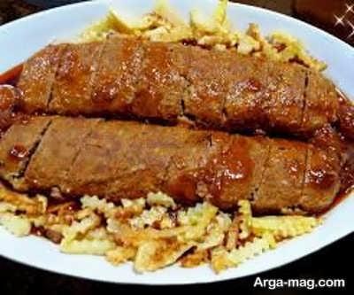 طرز تهیه رولت گوشت و مرغ