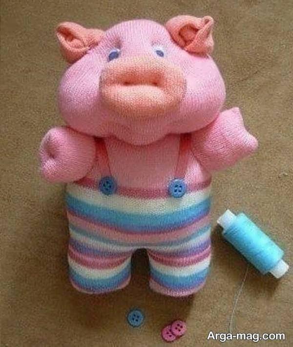 ساختن عروسک زیبا با جوراب