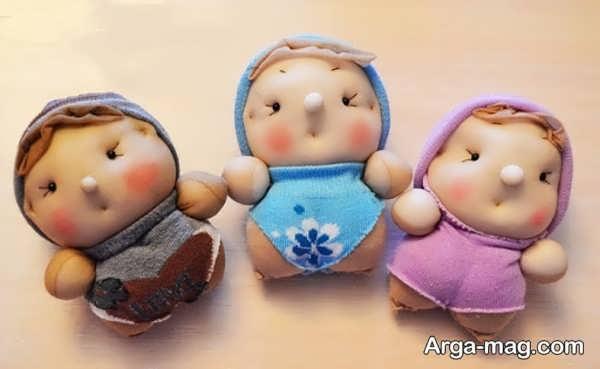ساخت عروسک با جورابهای قدیمی