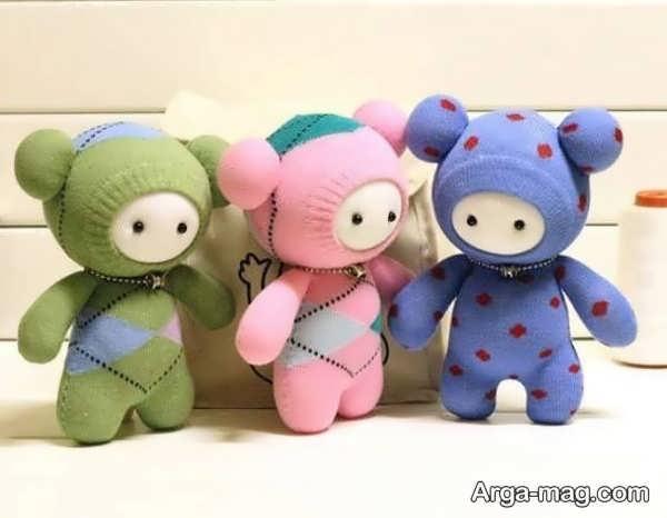 ساختن عروسک خرس با جوراب