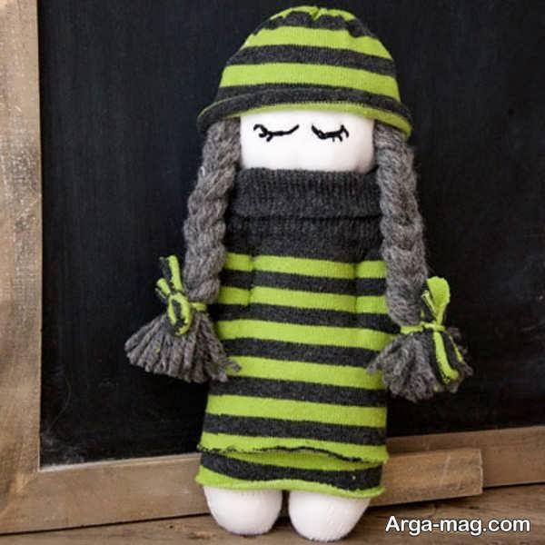 ایده ساخت عروسک با جوراب