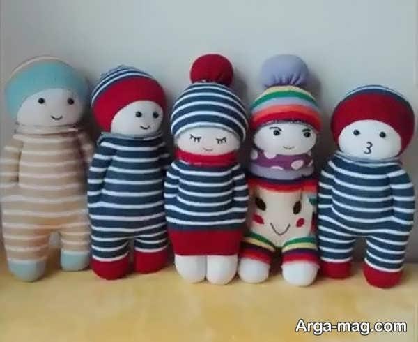 ساختن عروسک های جدید با جوراب