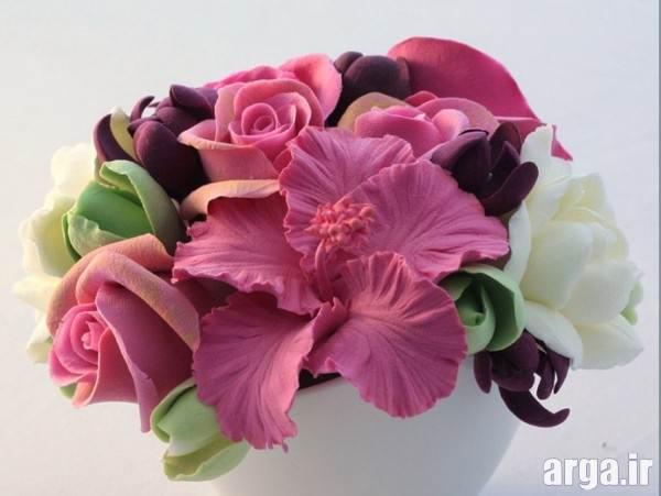گل نمدی برای روی یخچال آموزش ساخت خمیر گل چینی با انعطاف پذیری و ماندگاری طولانی تر