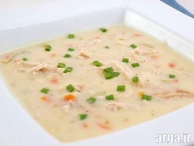 سوپ شیر و قارچ مقوی