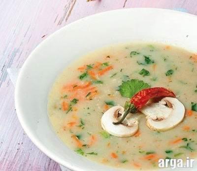 سوپ شیر و قارچ ایده آل