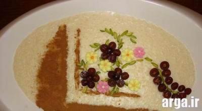 طرز تهیه فرنی شیرین