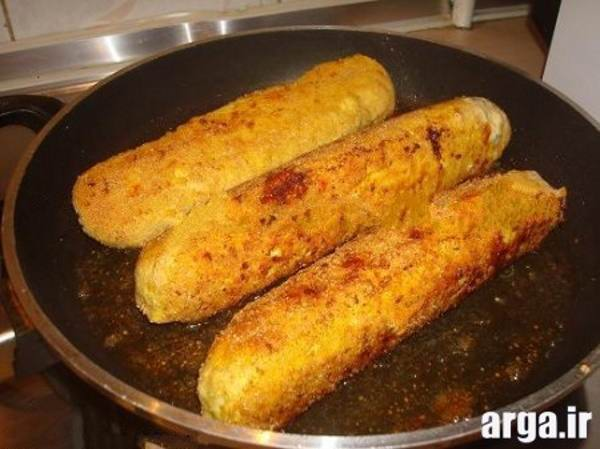 سرخ کردن رولت گوشت