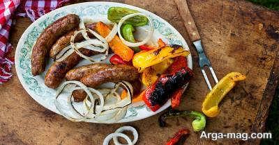 طرز تهیه سوسیس با گوشت قرمز