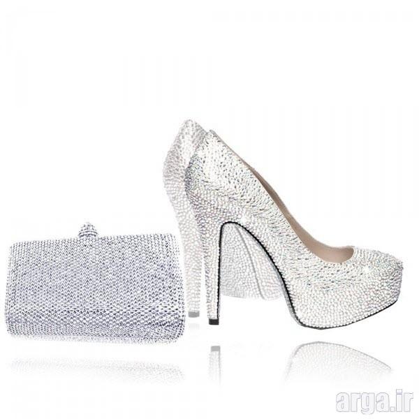 ست کیف و کفش عروس زیبا