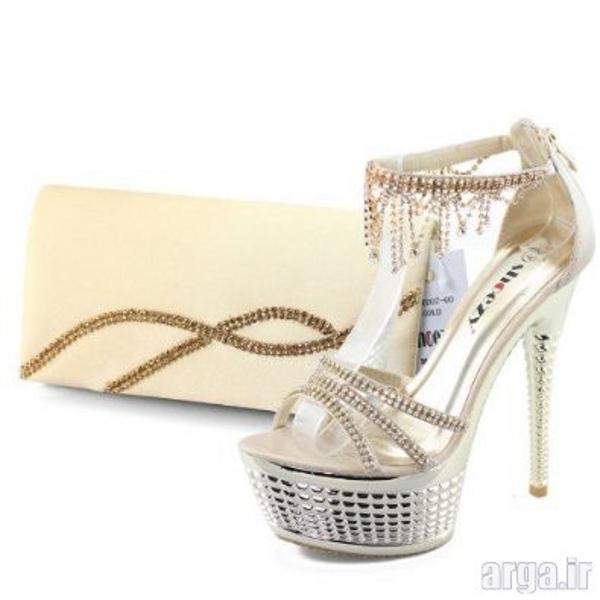 ست کیف و کفش جذاب عروس
