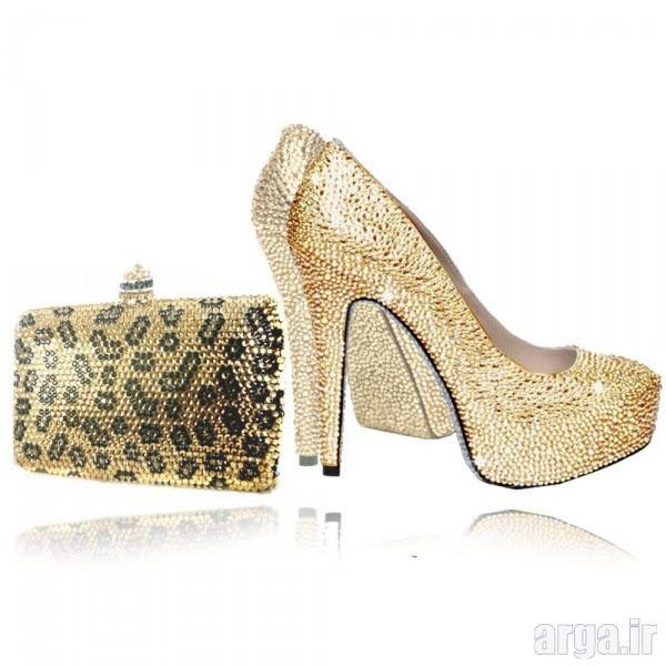 کیف و کفش ست شیک عروس