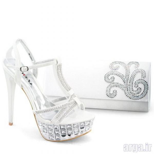 ست کیف و کفش عروس جدید