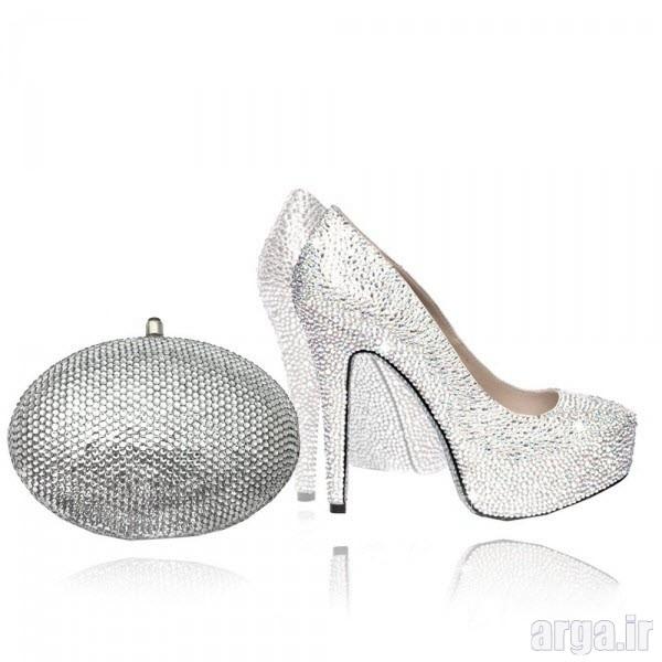 کیف و کفش ست جذاب عروس