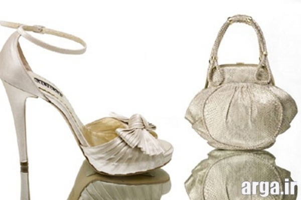 ست کیف و کفش عروس مدرن