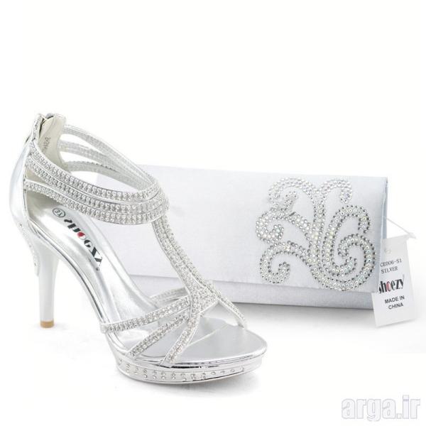ست کیف و کفش عروس جذاب