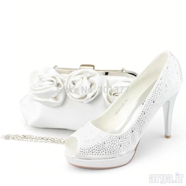 ست کیف و کفش زیبا عروس