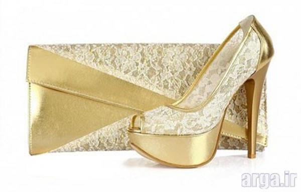 ست کیف و کفش مدرن عروس