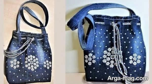 دوختن کیف با شلوار لی در طرحی کار شده