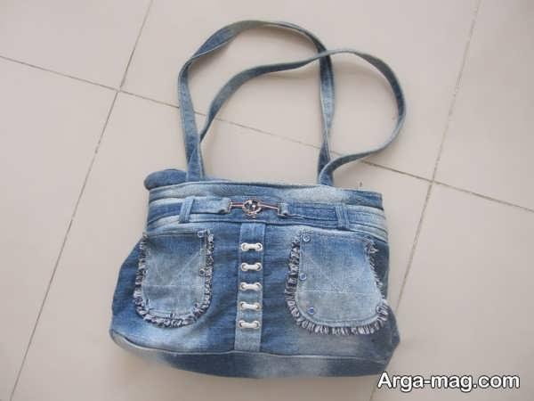 دوختن کیف دخترانه با شلوار لی