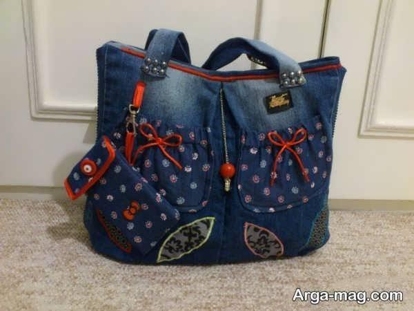 دوختن کیف شیک با شلوار لی