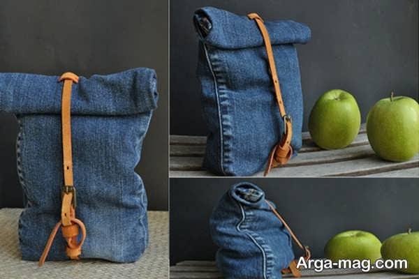 دوختن کیف ساده با شلوار لی