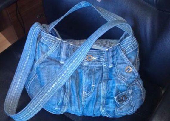 دوخت کیف با شلوار لی