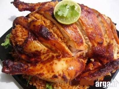 طرز تهیه مرغ شکم پر 5