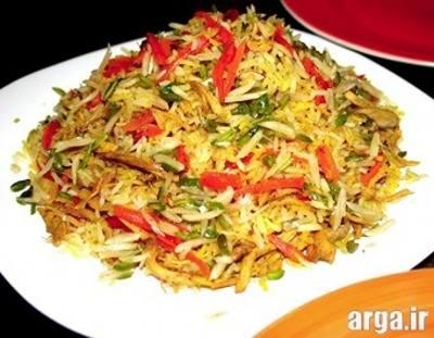 طرز تهیه شیرین پلو شیرازی