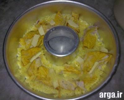 ته چین خوشمزه مرغ