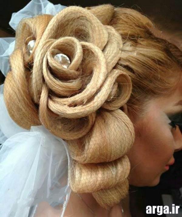 مدرن ترین آرایش مو عروس