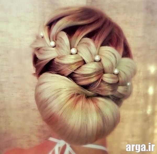 آرایش مو عروس اروپایی