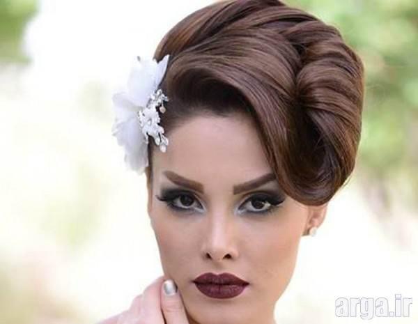 آرایش موی شیک و زیبا عروس
