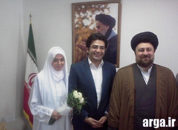 تصویر پنجم عقد آزاده نامداری و فرزاد حسنی