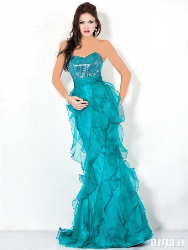لباس مجلسی 94 بلند آبی