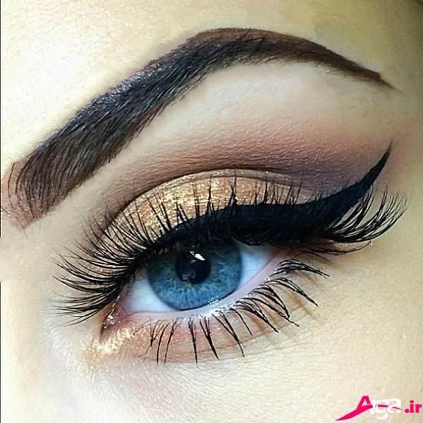 آرایش چشم عروس ساده