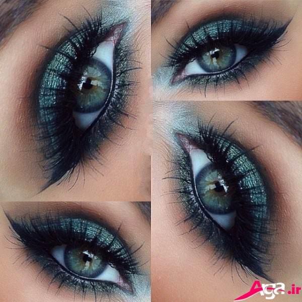 آرایش چشم با سایه آبی